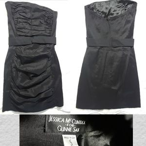 Jessica McClintock Ruched Cocktail Dress-Size 5
